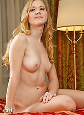 New Model is blonde and elegant, she has honey colored skin and sweet everywhere you taste her.
