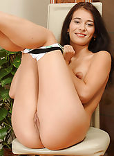 Nubile Vickie likes to play with her pussy using her talented fingers